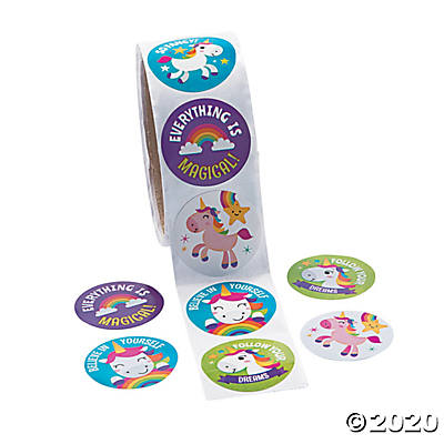 Unicorn Roll Stickers