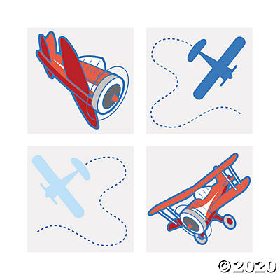 Airplane Temporary Tattoos