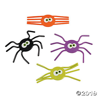 VINYL BENDABLE SPIDERS 12PCS
