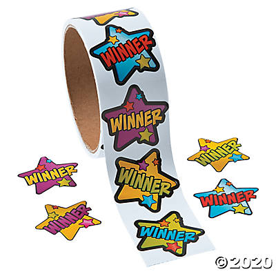 Winner Roll Stickers