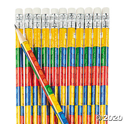 Toy Brick Pencils
