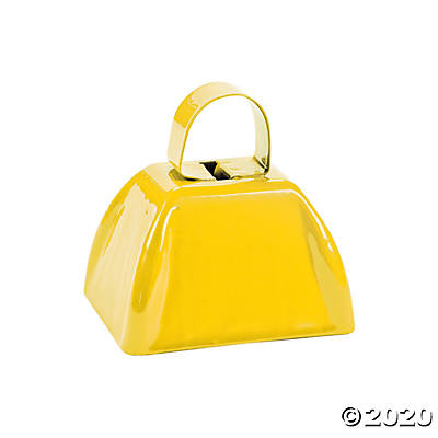Yellow School Cowbell
