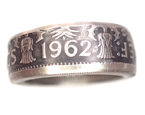 Coin Ring Brittish 2 Shilling coin ring