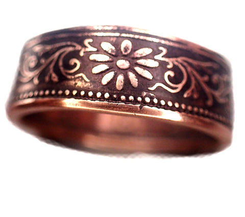 Japanese coin ring antique one sen coin handmade coin ring made from real coin