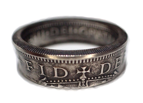 Coin Ring Brittish 1 Shilling coin ring