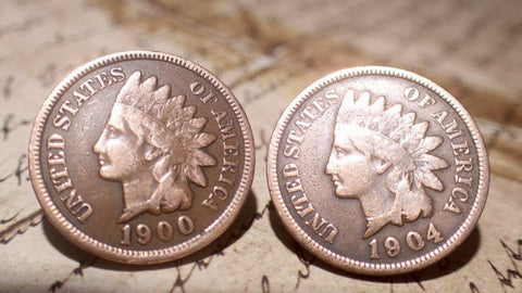 Penny coin Earrings Vintage copper Indian Head penny coin Stainless Steel Stud Earrings (post Earrings)