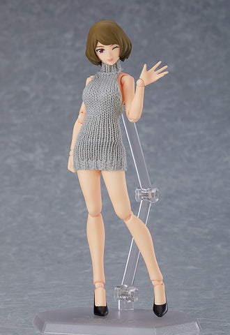 PRE-ORDER figma 505 - figma Styles - Female Body (Chiaki) with Backless Sweater Outfit