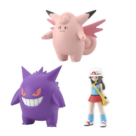 PRE-ORDER Pokemon Scale World: Kanto Region - Leaf & Cleafable & Gengar Set [EXCLUSIVE] (2nd Release)