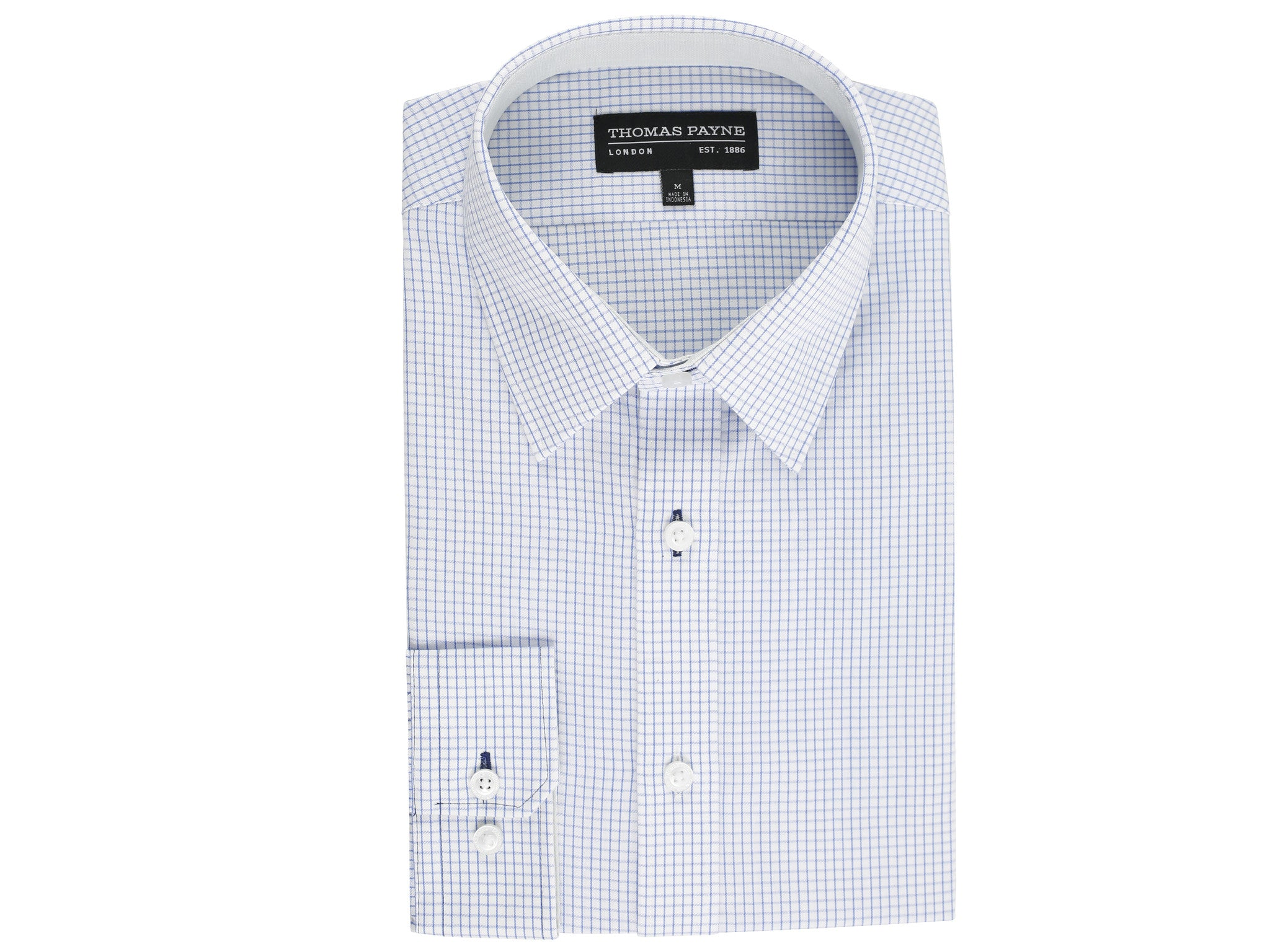 Alexander Blue Check Classic Fit Long Sleeve Shirt