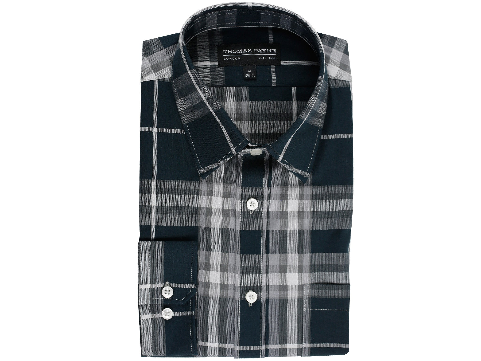 Ashcroft Grey Classic Fit Long Sleeve Shirt