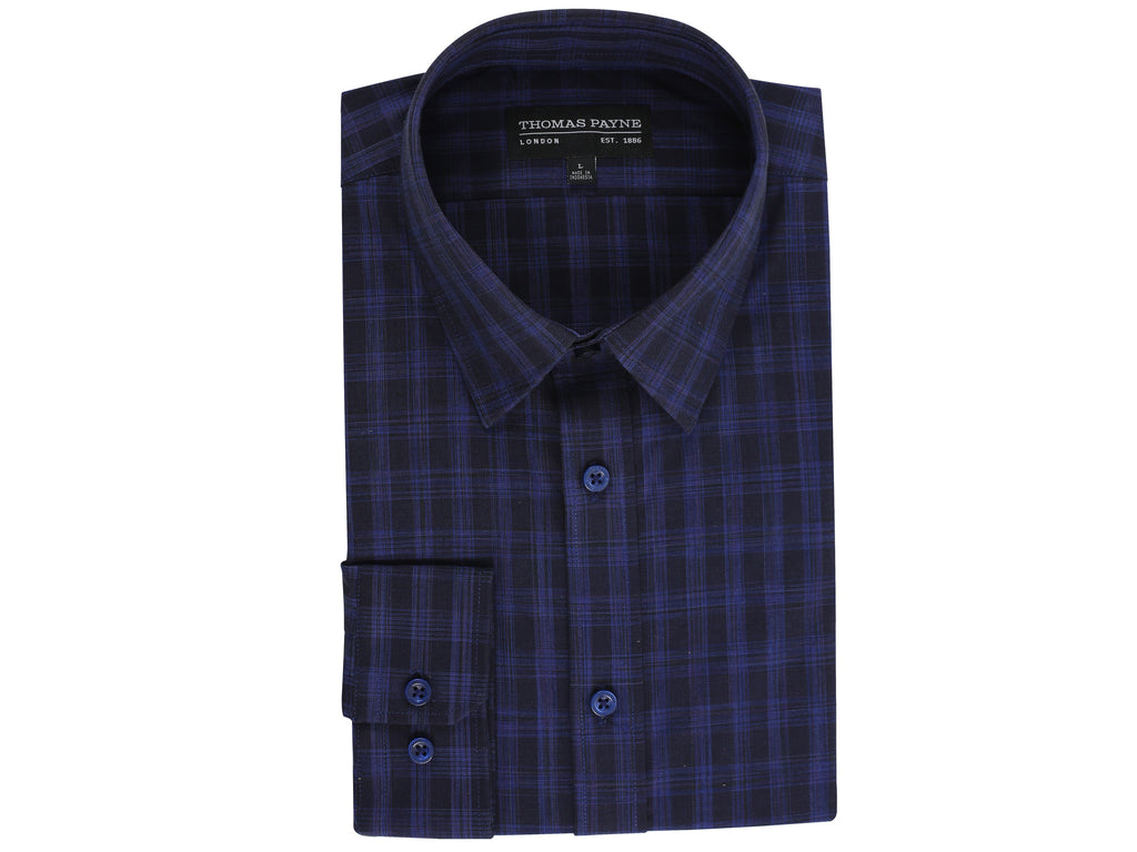 Beckett Black And Blue Classic Fit Long Sleeve Shirt