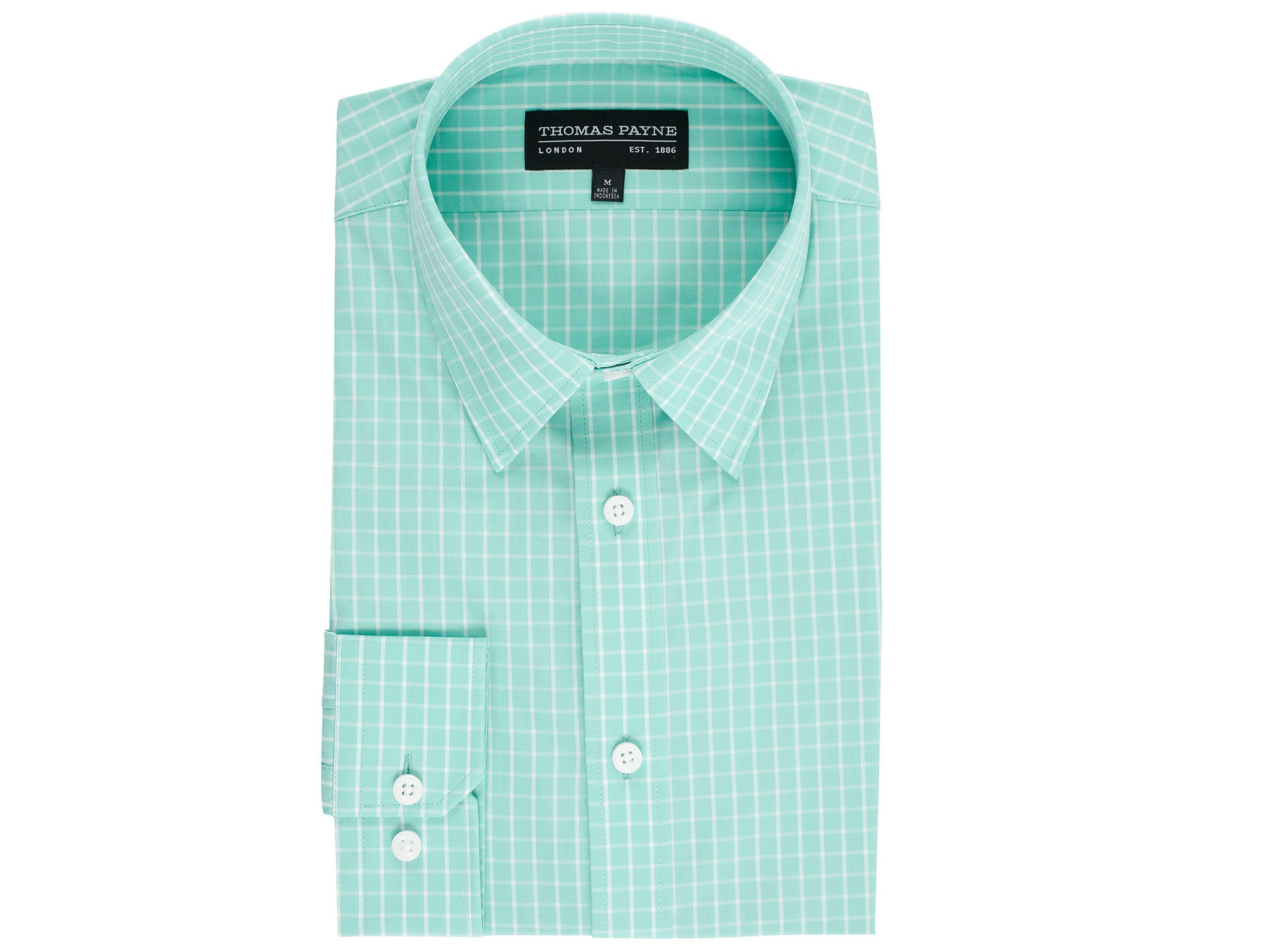 Eden Teal Classic Fit Long Sleeve Shirt