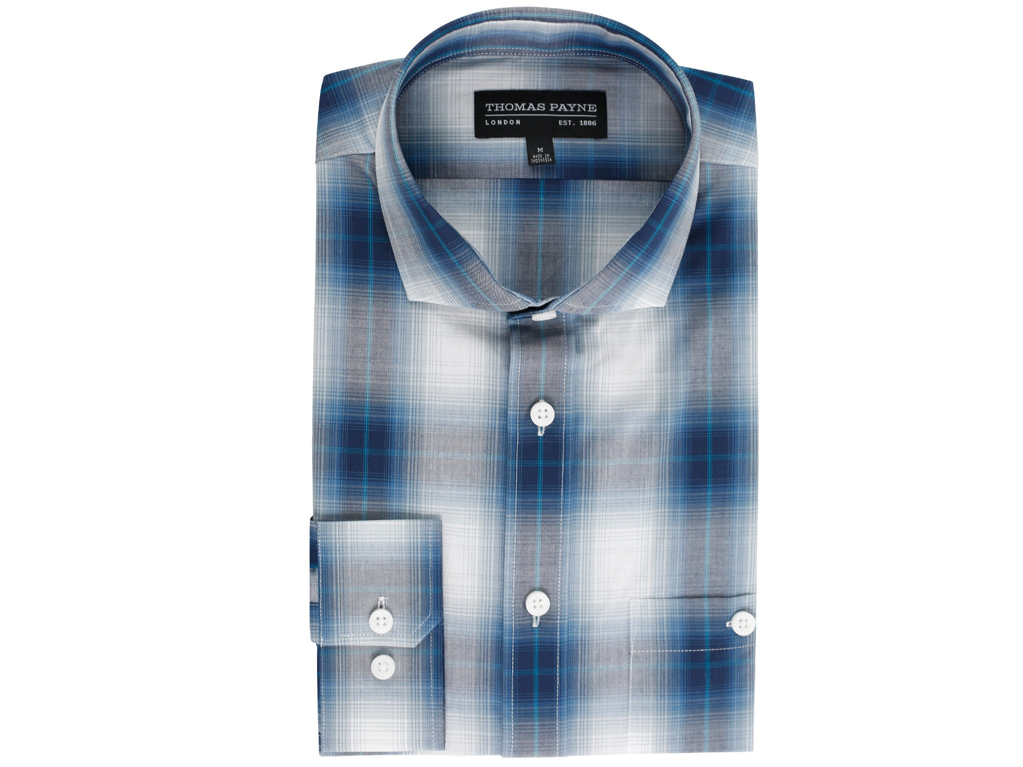 Edwin Blue Classic Fit Long Sleeve Shirt