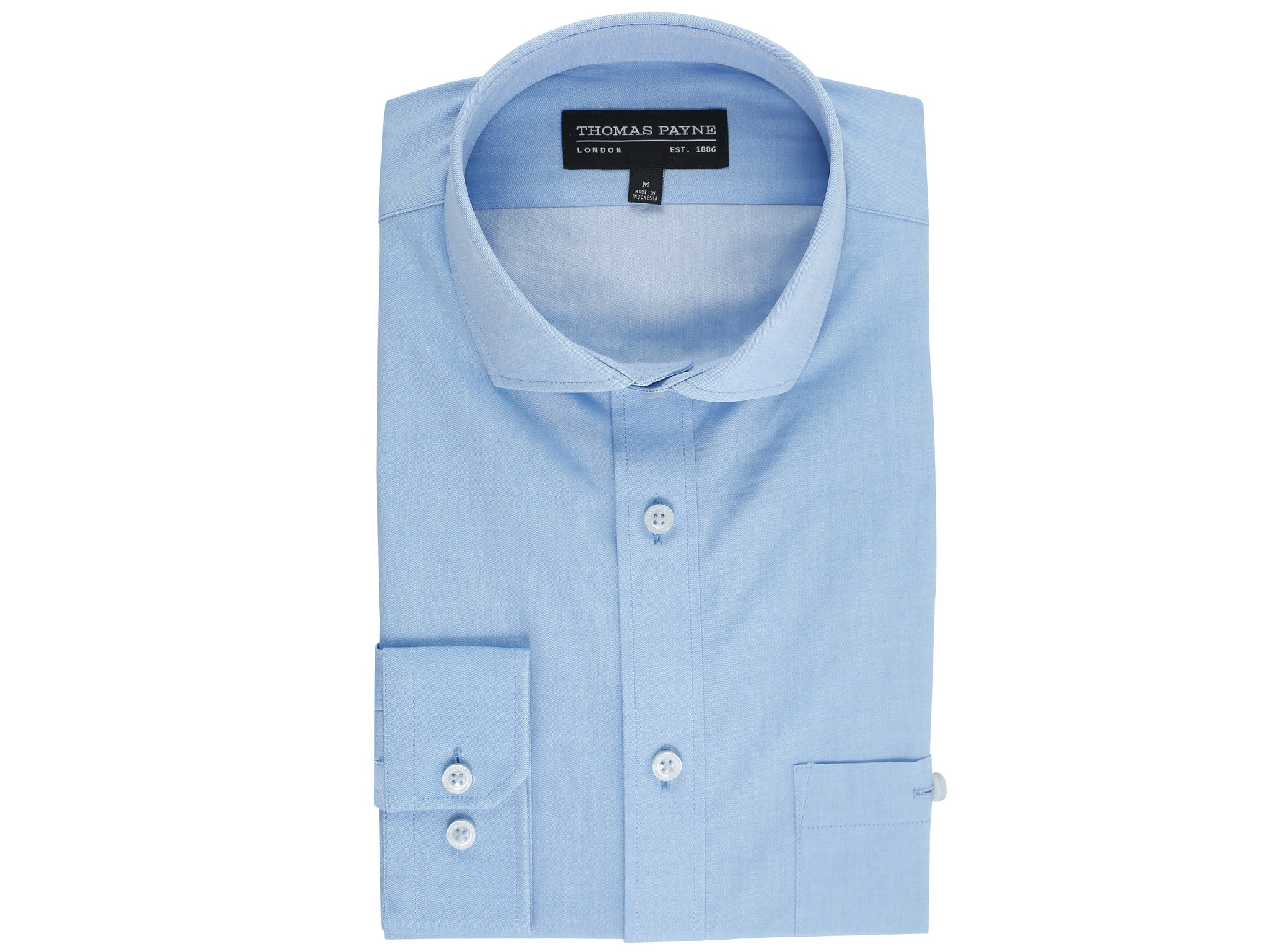 Giles Sky Blue Classic Fit Long Sleeve Shirt