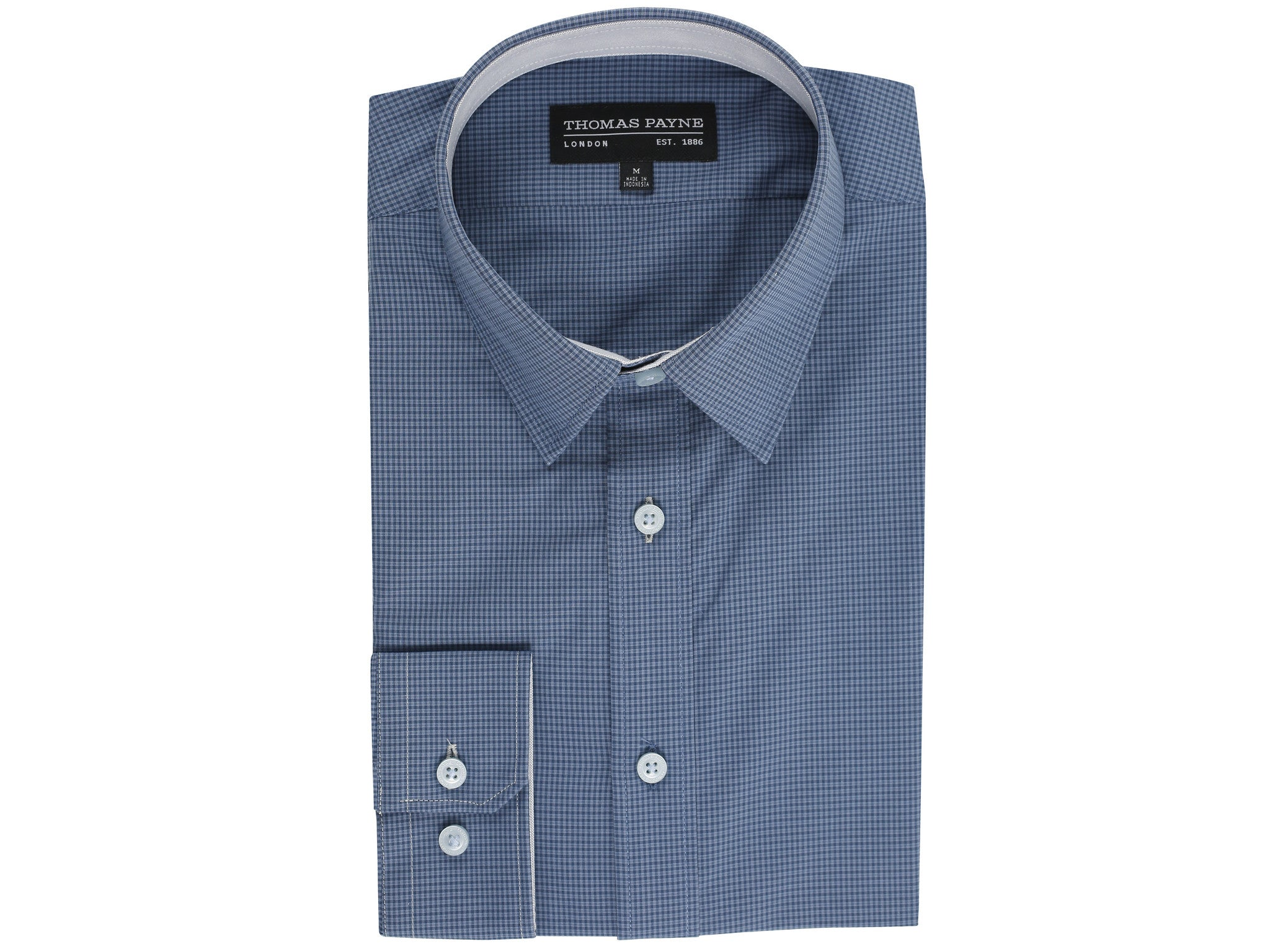 Irvin Blue Classic Fit Long Sleeve Shirt