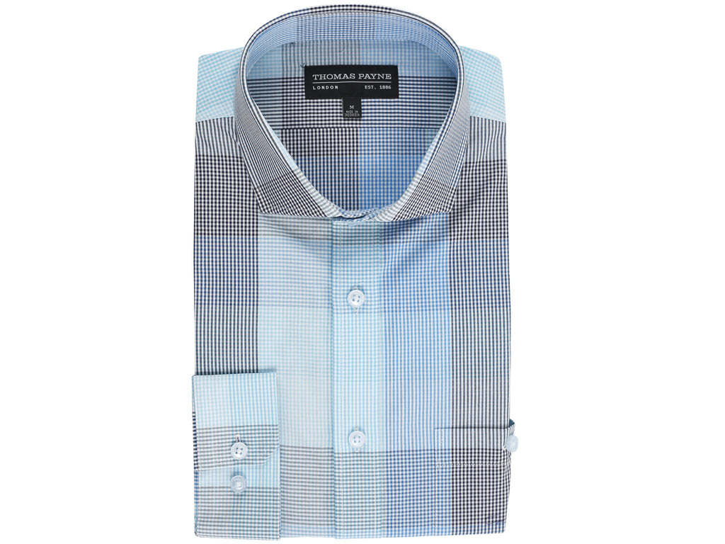 Johnson Blue Classic Fit Long Sleeve Shirt