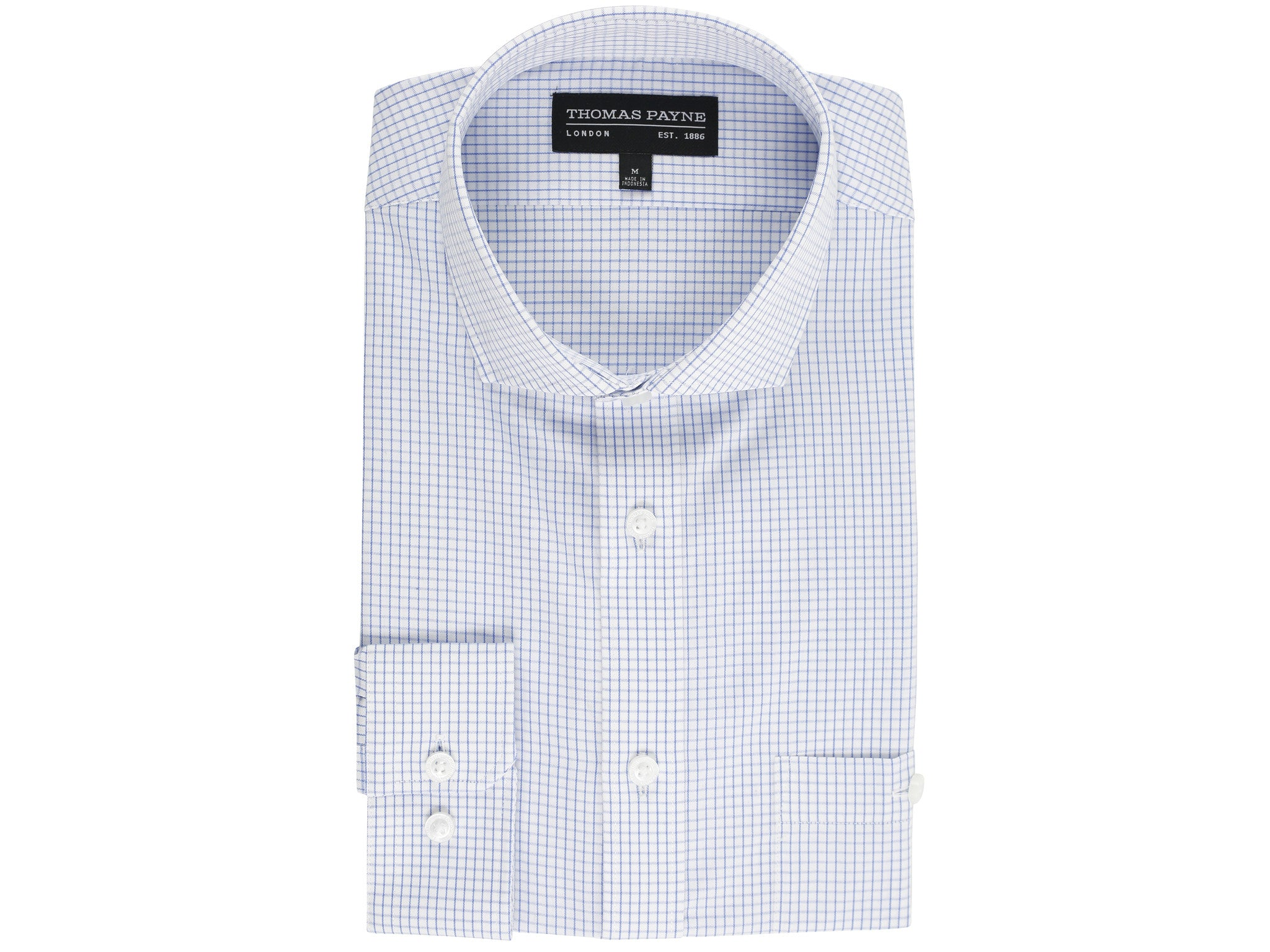 Jonathan Blue Graph Check Classic Fit Long Sleeve Shirt