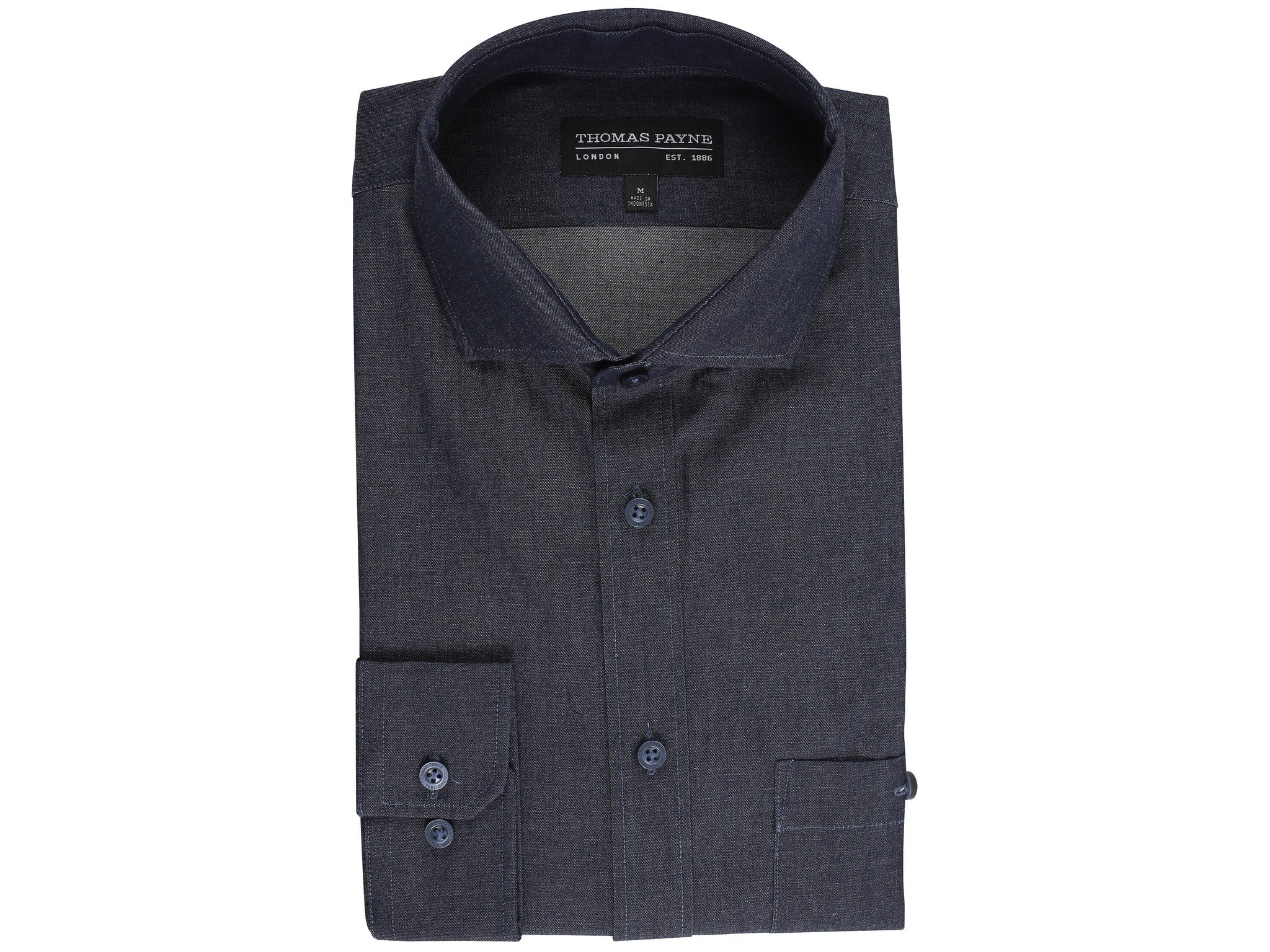 Maester Chambray Classic Fit Long Sleeve Shirt