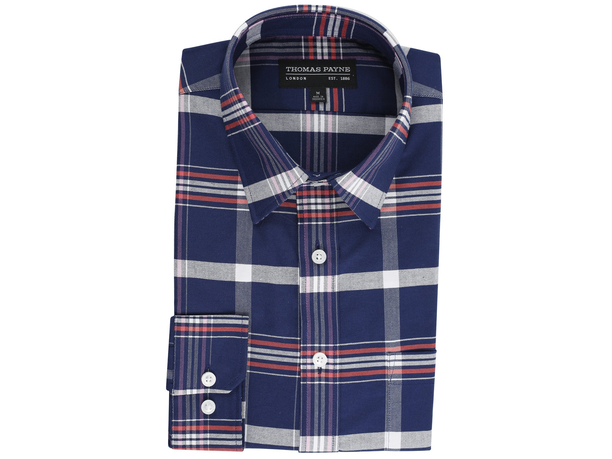 Milton Blue Classic Fit Long Sleeve Shirt