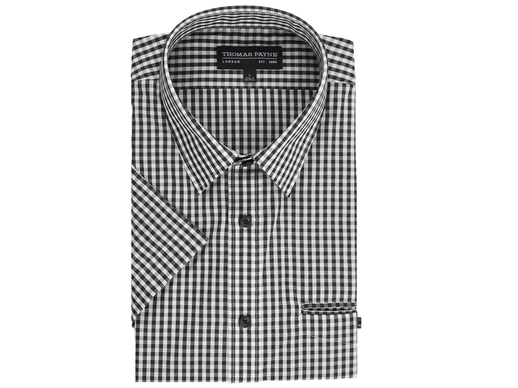 Prince Black and White Gingham Short Sleeve Shirt