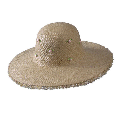 Turner Hat presents the Ladies Straw Beach Hat Khaki