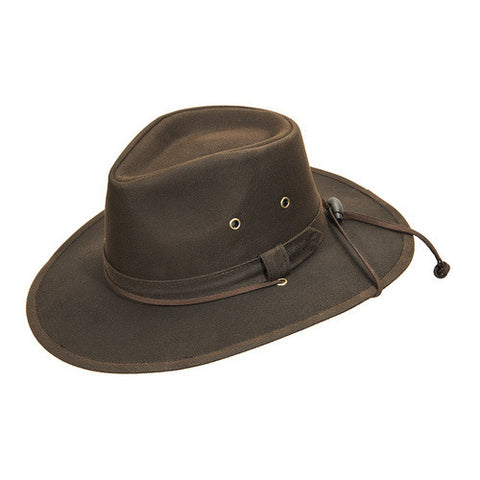 Turner Hat presents the Outback Oil Cloth  Brown