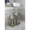 Athena Champagne Silver High Telephone Table (40 x 40 x 90cm)