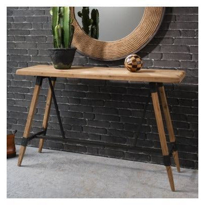 Flanders loft style industrial wood console table