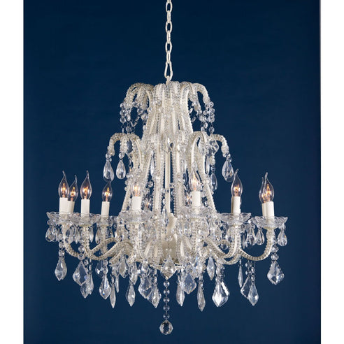 Shabby Chic Laura Cream Large Chandelier - 12 Arms (Ceiling Light)