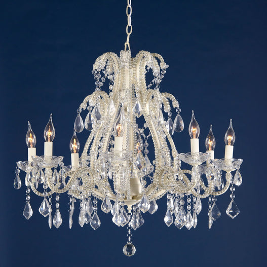 Shabby Chic Charlotte Cream Chandelier - 8 Arms (Ceiling Light)