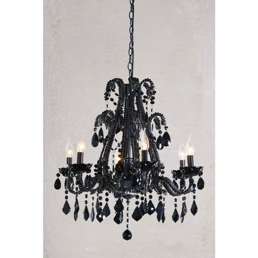 Marie Therese Crystal Black Chandelier - 6 Arms (Ceiling Light)