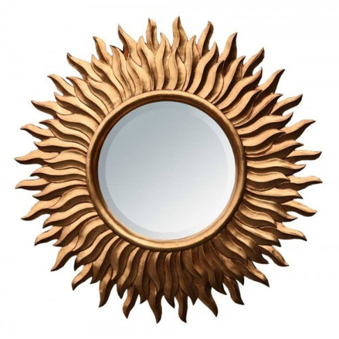 Bronze gold sunburst mirror