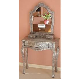 blackened silver embossed dressing table