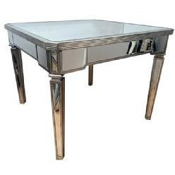 Venetian mirrored silver glass dining table