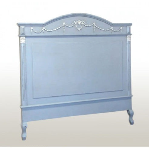 "Vintage french blue shabby chic double 4'6"" headboard"