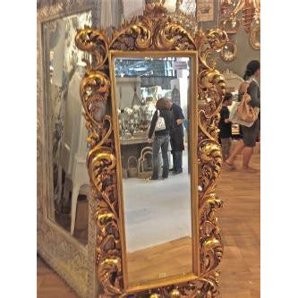 Antique Gold Rococo Large Cheval Mirror (Floor Standing, 90 x 190 x 15.5cm)