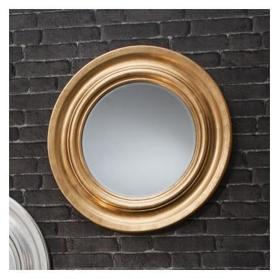 Gold round plain mirror - Cameo