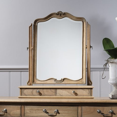 Chic Chalk Weathered French Dressing Table Mirror