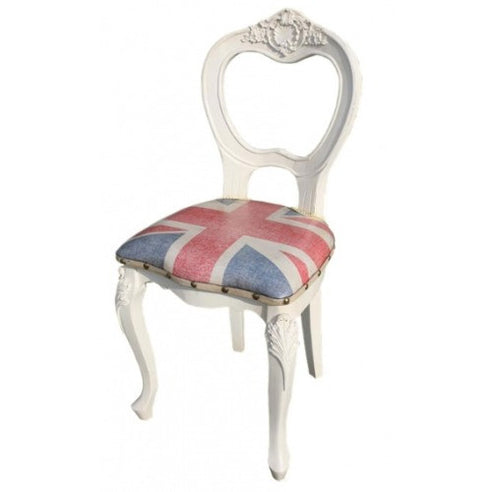 Vintage antique white union jack chair