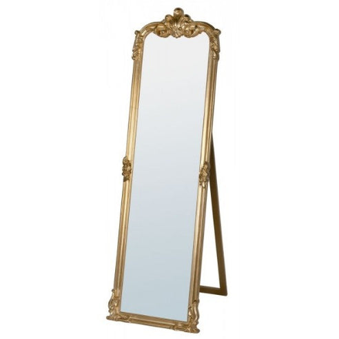 Louise french gold oval cheval mirror