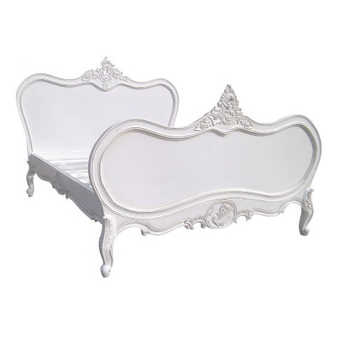 White double french bed - chateau