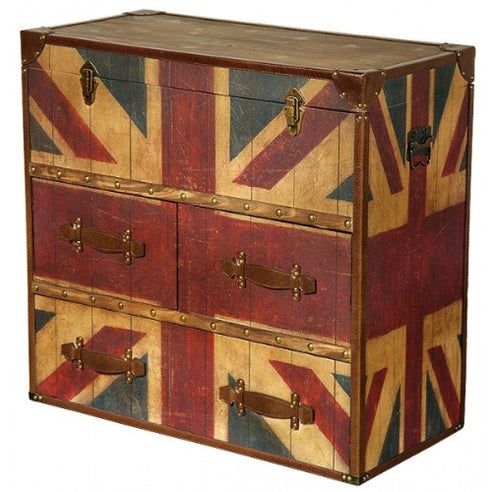 Union jack vintage chest of drawers