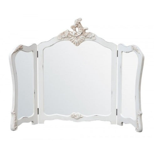 Vintage antique white dressing table mirror