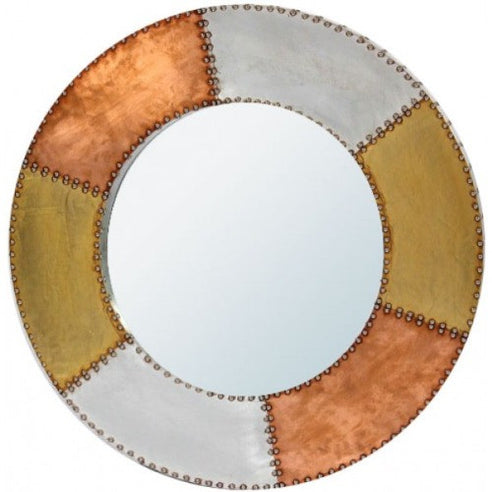 Silver and copper industrial aluminium mirror