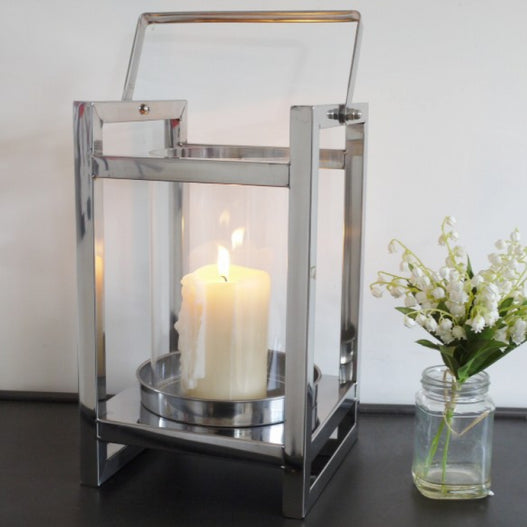 Stainless Steel Candle Lantern ( 21 x 24 x 43cm )