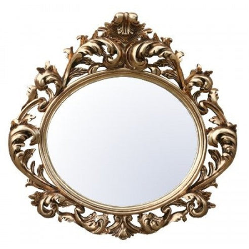 Large gold french vintage rococo mirror