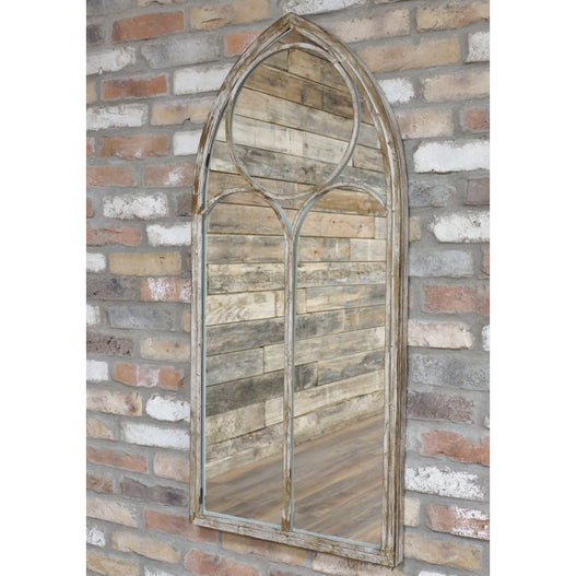 Beach House Metal Distressed Arched Mirror (56 x 4 x 122) - CLEARANCE