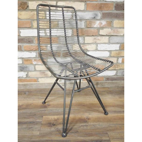 Hoxton Metal Industrial Retro 'Open Wirework' Style Chair set of 4