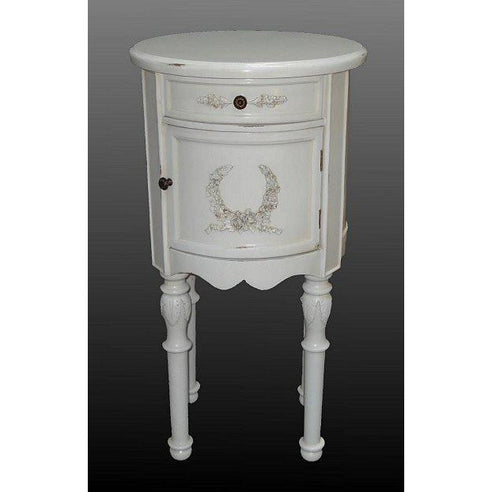 Laura white bedside table