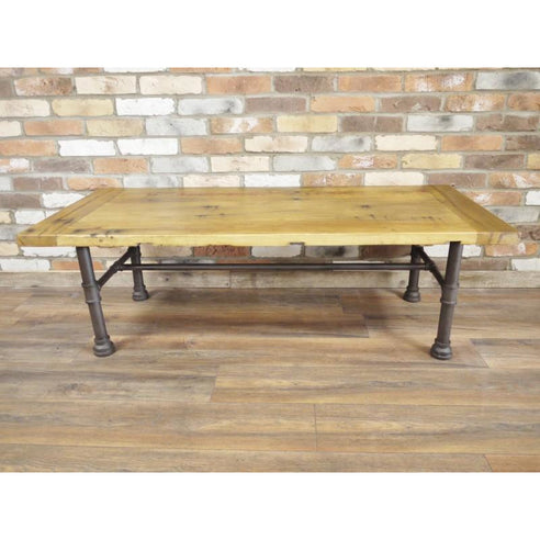 Hoxton Industrial Reclaimed Wood Large Coffee Table (146 x 46cm x 66cm)